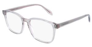 ALEXANDER MCQUEEN AM0244O 003 Beige Square Rectangle Men's 53 mm Eyeglasses