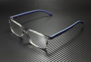 GUCCI GG0424O 003 Havana Blue Rectangle Square Men's 56 mm Eyeglasses