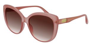 GUCCI GG0789S 003 Pink Square Rectangle Women's 57 mm Sunglasses