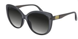 GUCCI GG0789S 001 Grey Round Cat Eye 57 mm Women's Sunglasses