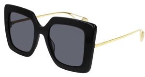 GUCCI GG0435S 001 Black Square Rectangle Women's 51 mm Sunglasses