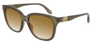 GUCCI GG0790S 002 Brown Square Rectangle Women's 56 mm Sunglasses