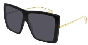 GUCCI GG0434S 001 Black Square Rectangle Women's 61 mm Sunglasses