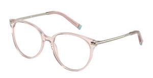 TIFFANY TF2209 8328 Nude Transparent Round Women's 52 mm Eyeglasses