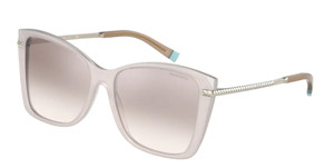 TIFFANY TF4180 83038Z Opal Ice Brown Square Rectangle 56 mm Sunglasses