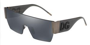 DOLCE & GABBANA DG2233 12866G Matte Dark Gunmetal Square Men's 43 mm Sunglasses