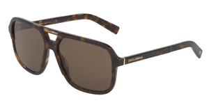 DOLCE & GABBANA DG4354 502 73 Havana Square Men's 58 mm Sunglasses