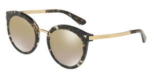 DOLCE & GABBANA DG4268 911 6E Cube Black Round Women's 52 mm Sunglasses