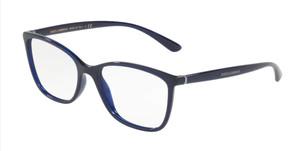 DOLCE & GABBANA DG5026 3094 Opal Blue Rectangle Square Women's 54 mm Eyeglasses