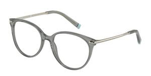 TIFFANY TF2209 8340 Dark Green Transparent Round Women's 52 mm Eyeglasses