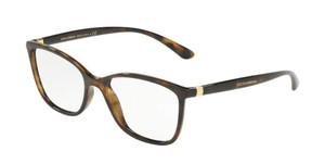DOLCE & GABBANA DG5026 502 Havana Rectangle Square Women's 54 mm Eyeglasses