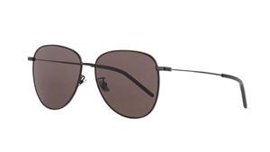 SAINT LAURENT SL 328 K 002 Black Round Aviator Women's 60 mm Sunglasses