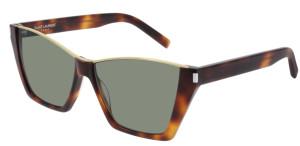 SAINT LAURENT SL 369 KATE 002 Havana Cat Eye Rectangle Women's 58  mm Sunglasses