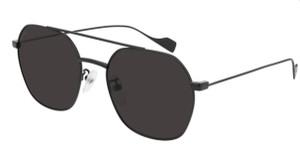 BALENCIAGA BB0089SK 001 Black Square Round Unisex 55 mm Sunglasses