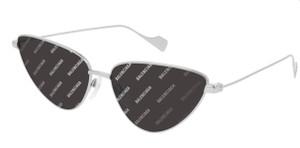 BALENCIAGA BB0086S 005 Silver Grey Cat Eye Women's 59 mm Sunglasses