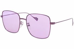 BALENCIAGA BB0087SK 004 Violet Square Unisex Rectangle 57 mm Sunglasses