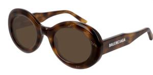 BALENCIAGA BB0074S 002 Havana Oval Women's 50 mm Sunglasses