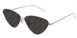 BALENCIAGA BB0015S 004 Silver Cat Eye Unisex 61 mm Sunglasses