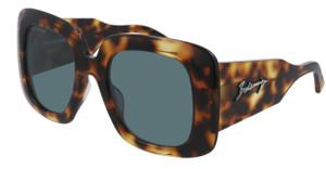 BALENCIAGA BB0119S 002 Havana Square Rectangle Women's 53 mm Sunglasses