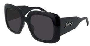 BALENCIAGA BB0119S 001 Black Rectangle Square 53 mm Women's Sunglasses