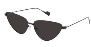 BALENCIAGA BB0086S 001 Black Grey Cat Eye Women's 59 mm Sunglasses