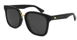 BOTTEGA VENETA BV1095SA 001 Black Square Women's 54 mm Sunglasses