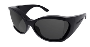 BALENCIAGA BB0154S 001 Black Butterfly Injection 72 mm Women's 72 mm Sunglasses
