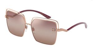 DOLCE & GABBANA DG2268 1298AQ Pink Gold Rectangle Square 59 mm Sunglasses