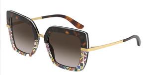 DOLCE & GABBANA DG4373 327813 Havana Square Rectangle 52 mm Sunglasses