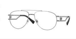 VERSACE VE1269 1001 Aviator Pilot Gunmetal Men's 55 mm Eyeglasses