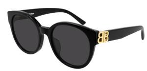 BALENCIAGA BB0134SA 001 Black Round Women's 55 mm Sunglasses