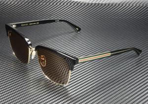 GUCCI GG0382S 002 Square Black Brown 56 mm Men's Sunglasses