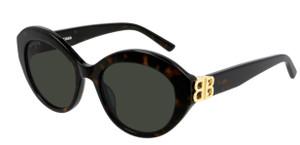BALENCIAGA BB0133S 002 Havana Oval Women's 52 mm Sunglasses