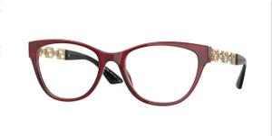 VERSACE VE3292F 388 Bordeaux Oval Women's 54 mm Eyeglasses