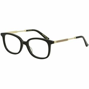 GUCCI GG0202O 001 Square Rectangle Black Women's 50 mm Eyeglasses