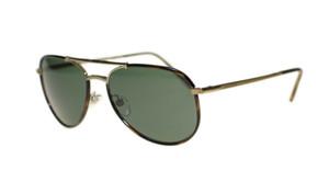 BURBERRY BE3091J 11675U Havana Gold Aviator Folding 58 mm Men's Sunglasses