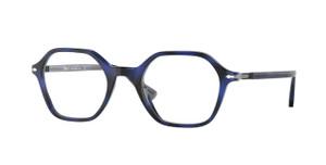 PERSOL PO3254V 1099 Blue Square Unisex 47 mm Eyeglasses