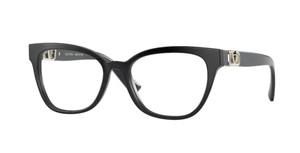 VALENTINO VA3049 5001 Black Square Rectangle Women's 53 mm Eyeglasses