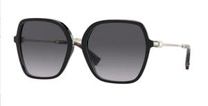 VALENTINO VA4077 50018G Black Square Women's 57 mm Sunglasses