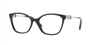 VALENTINO VA3050 5001 Black Rectangle Square Women's 52 mm Eyeglasses