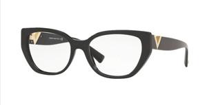 VALENTINO VA3037 5001 Black Square Rectangle Women's 52 mm Eyeglasses