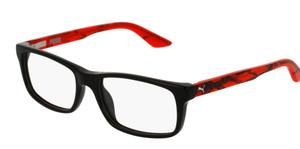 PUMA PJ0009O 001 Black Rectangle Square Kid's 49 mm Eyeglasses
