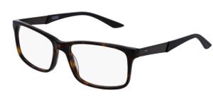 PUMA PU0074O 010 Havana Black Rectangle Square Men's 56 mm Eyeglasses