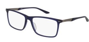 PUMA PU0096O 010 Blue Rectangle Square Men's 56 mm Eyeglasses