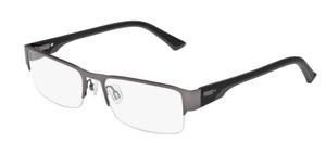PUMA PU0033O 004 Ruthenium Black Rectangle Square Men's 55 mm Eyeglasses