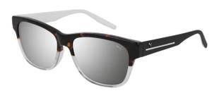 PUMA PU0266S 002 Havana Square Rectangle Men's 56 mm Sunglasses