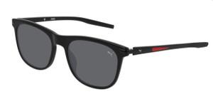 PUMA PU0264S 001 Black Square Rectangle Men's 54 mm Polarized Sunglasses