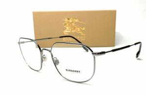 Burberry BE1335 1003 Gunmetal Demo Lens Men's Square Eyeglasses 52mm