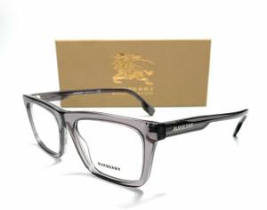 BURBERRY BE2298 3801 Transparent Grey Demo Lens Men's Eyeglasses Frame 52mm