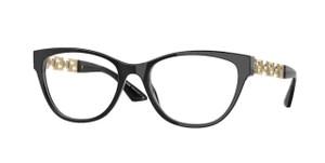 VERSACE VE3292F GB1 Black Oval Women's 54 mm Eyeglasses